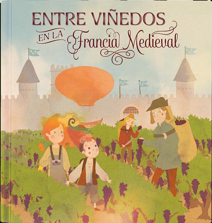 Entre viñedos en la Francia medieval
